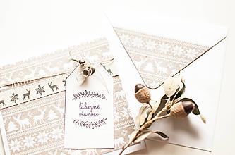 """Papiernictvo - Vianočná pohľadnica """"ľúbezné vianoce s jelenčekom"""" - 10151195_"""