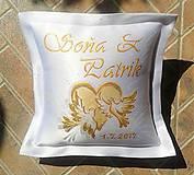 Darčeky pre svadobčanov - Zľava !!! Svadobný vankúšik - 10149091_
