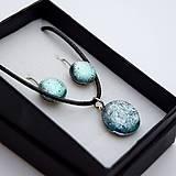 Sady šperkov - Strieborná sada sklenených šperkov - 10151014_