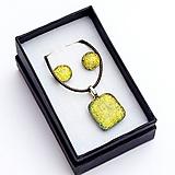 Sady šperkov - Zlato-žltá sada sklenených šperkov - 10151030_
