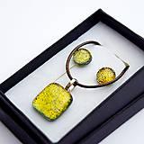 Sady šperkov - Zlato-žltá sada sklenených šperkov - 10151034_