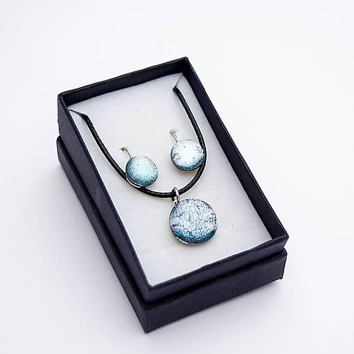 Strieborná sada sklenených šperkov