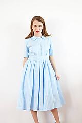 Šaty - Bavlnené košeľové šaty s okruhlinkovým golierom - 10148181_