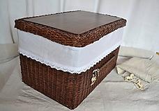 Košíky - Box kakaový ELIZABETH - 10149046_
