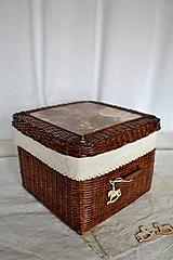 Košíky - Čokoládový box s poklopom - 10149426_