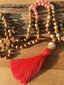 Náhrdelníky - Mala náhrdelník jaspis a jadeit - 10155143_