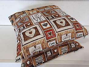 Úžitkový textil - Obliečky na vankuše Láska na dreve - 10153552_
