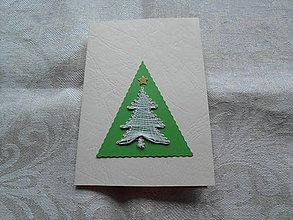 Papiernictvo - Vianočná pohľadnica so stromčekom - 10154896_