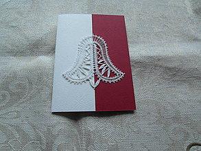 Papiernictvo - Vianočná pohľadnica so zvončekom 3 - 10154932_