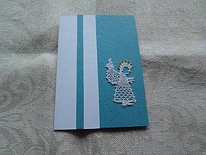 Papiernictvo - Vianočná pohľadnica s anjelom 2 - 10154962_