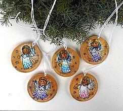 Dekorácie - Vianoční anieličkovia - 10153773_