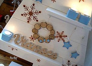 Dekorácie - Vianočný stromček biely 5 - 10156406_