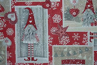Textil - Látka Vianočný škriatok  - 10153000_