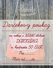 Darčekové poukážky - DAČEKOVÝ POUKAZ NA 50 EUR - 10154677_