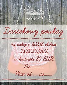 Darčekové poukážky - DAČEKOVÝ POUKAZ NA 80 EUR - 10154686_