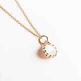 Náhrdelníky - pozlátený strieborný náhrdelník s mesačným kameňom Luna Ag 925 - 10153728_