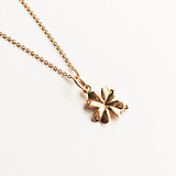 Náhrdelníky - pozlátený strieborný náhrdelník s trojlístkom Suerte Ag 925 - 10153802_