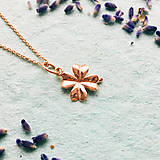Náhrdelníky - pozlátený strieborný náhrdelník s trojlístkom Suerte Ag 925 - 10153804_
