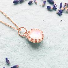 Náhrdelníky - pozlátený strieborný náhrdelník s mesačným kameňom Luna Ag 925 - 10153726_