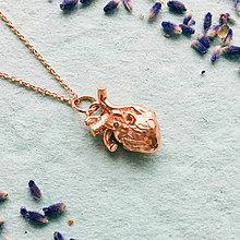 Náhrdelníky - pozlátený strieborný náhrdelník so srdcom Heart is an organ of fire Ag 925 - 10153749_