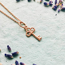 Náhrdelníky - pozlátený strieborný náhrdelník s kľúčikom My secret Ag 925 - 10153782_