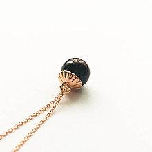Náhrdelníky - pozlátený strieborný náhrdelník s ametystom Večernica Ag 925 (granát - Bordová) - 10153844_