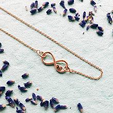 Náhrdelníky - pozlátený strieborný náhrdelník Nekonečná láska  Ag 925 - 10153984_