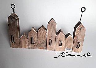 Nábytok - Vešiačik mestečko K& M dizajn - 10153132_