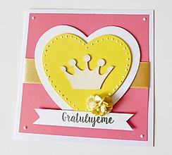 Papiernictvo - pohľadnica k narodeniu dieťatka - 10152822_