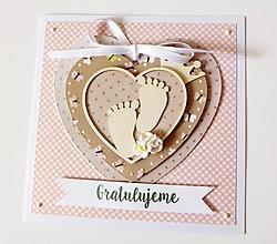 Papiernictvo - pohľadnica k narodeniu dieťatka - 10152832_
