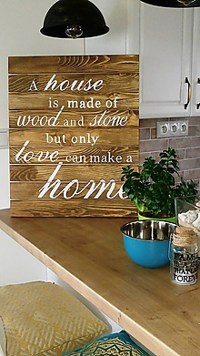 Dekorácie - Drevená dekorácia - tabuľa s textom - 10154494_