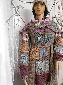 769d9a524625 Svetre Pulóvre - Tvídový svetrokabát so šálom