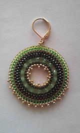 Náušnice - obruč zelená - 10154765_