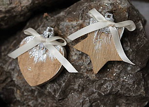 Dekorácie - vianočné ozdoby _ drevené - 10156979_
