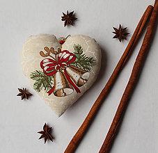 Dekorácie - Vianočná dekorácia - srdiečko - 10156603_