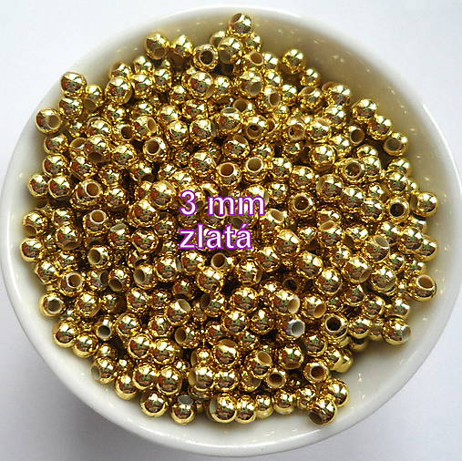 GLANCE plast 3mm-10g (zlatá)
