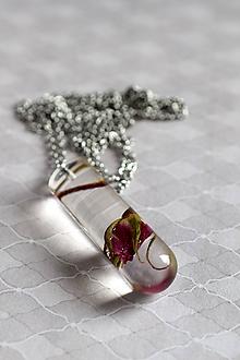 Náhrdelníky - Náhrdelník Šípová ruža v skúmavke (2537 A CHO) - 10153798_