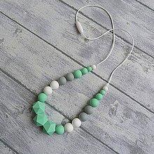 """Iné šperky - Silikónový kojaci náhrdelník """"Mentha"""" - 10154502_"""