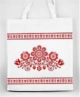 Nákupné tašky - Nákupná taška  kvety ľudový motív 03 - 10156862_