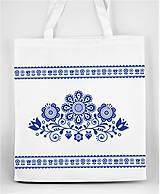 Nákupné tašky - Nákupná taška  kvety ľudový motív 03 - 10156870_