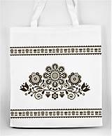 Nákupné tašky - Nákupná taška  kvety ľudový motív 03 - 10156877_
