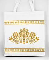 Nákupné tašky - Nákupná taška  kvety ľudový motív 03 - 10156878_