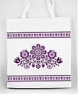 Nákupné tašky - Nákupná taška  kvety ľudový motív 03 - 10156879_