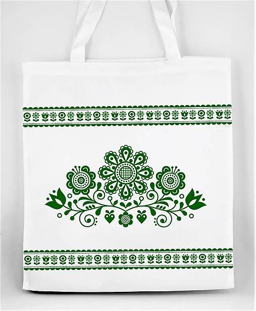 Nákupná taška  kvety ľudový motív 03