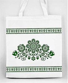 Nákupné tašky - Nákupná taška  kvety ľudový motív 03 - 10156861_