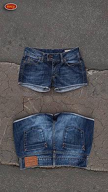 Nohavice - recy džínové kraťasy, RETRO - 10155208_