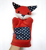 Hračky - Maňuška líška  (Rodinka Modrých z Bodkovej tône - na objednávku) - 10154353_