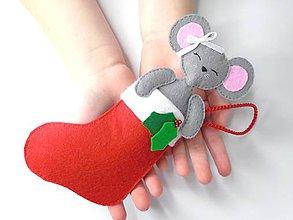 Hračky - Drobnosti v čižmičke (Myšička) - 10154526_
