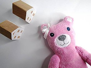 Hračky - Jemnučký sladký medvedík (Rose) - 10154846_