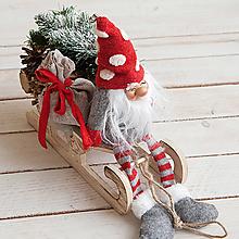 Dekorácie - Vianočný škriatok ... dekorácia - 10156744_